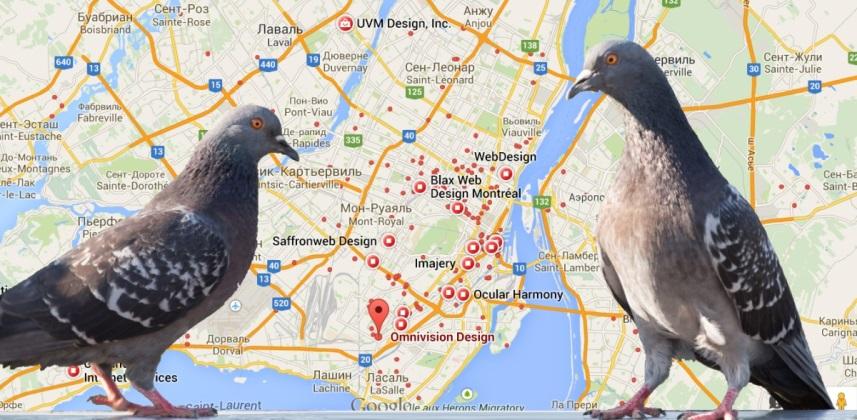 обновление Google Pigeon
